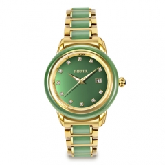 New Arrival Real Jade Watches Saphir verre quartz montre homme